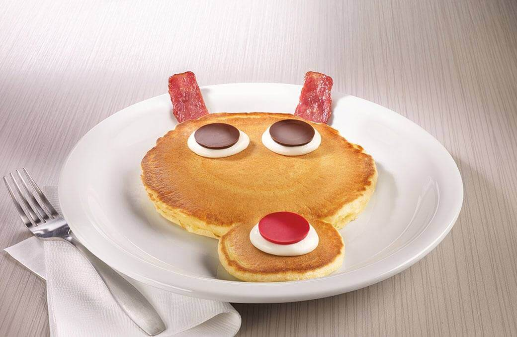 Denny's Rudolph Pancakes