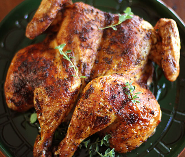 spatchcock roasted chicken recipe
